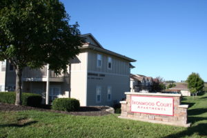Entrance to Ironwood Court Apartments