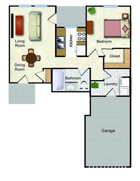 The Arroyo - 1 Bedroom 1A - 514